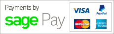 Payments by Sage Pay - Visa, PayPal, MasterCard, American Express