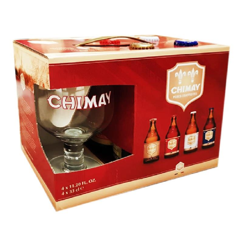 Chimay 4x33cl + Glass Gift Pack