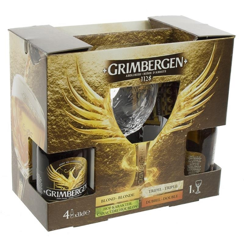 Grimbergen  4x330ml + 1 Glass Gift Pack